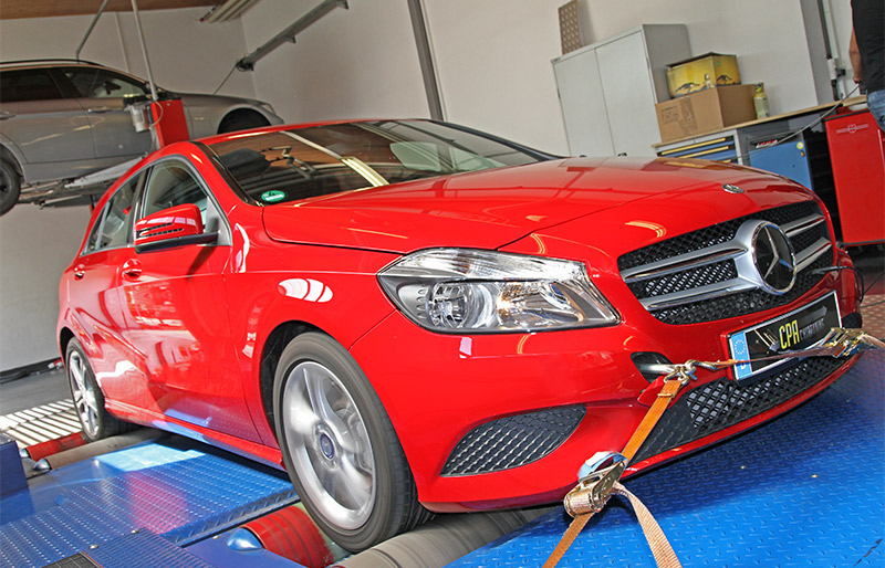 The A-Class from Mercedes on the dyno